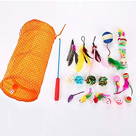 Amazon.com : Best Quality 20pcs/Set Mini cat Toy Playing Mouse pet cat Toy Set Feather Teaser Wand Catnip Toys Ball Rings Cats Interactive Products : Pet ...