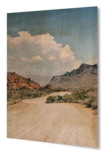 Preppy Sand Print (KAVKA DESIGNS Desert Roads Plywood Art, (Tan/Sand/Blue/Green) - ESCAPE Collection, Size: 8x10x1.5 - (HRAAVC5013PP81))