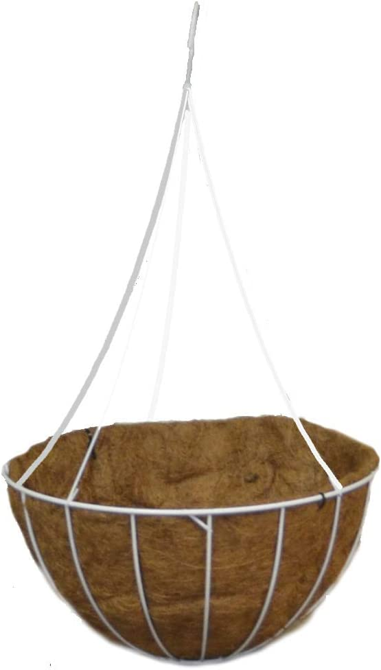 Arcadia Garden Products 1538 White Grow Basket with Liner 20