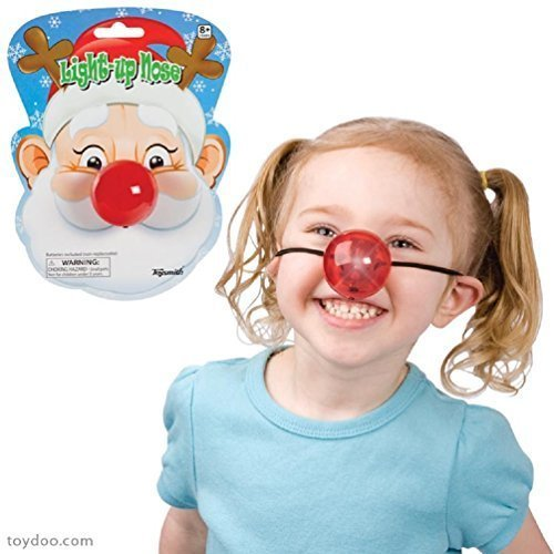 Light Up Red Nose Battery Operated Holiday or Clown -