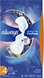 Always Infinity Feminine Pads for Women, Size 4, 78 Count, Overnight Absorbency, with Wings, Unscented