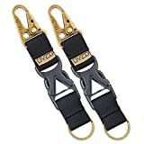 DYZD Tactical Gear Keychain Clip 100% Nylon Belt Key Chain Tactical Key Holder Quick Release Buckle Key Ring Outdoor Keychain (Pack of 2 Black)