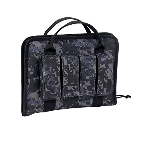 VooDoo Tactical 25-0017081000 Pistol Case with Mag Pouches, Urban Digital, One Size ()