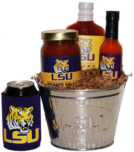 College Picante Salsa - Louisiana State University Tailgate Grilling Gift Basket - Small