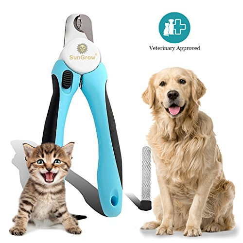 Vet-approved-Pet-Nail-Clipper-Trimmer-by-SunGrow-5-minutes-to-professional-pet-grooming-Heavy-duty-non-slip-handle-Razor-sharp-blade-for-clean-cut-Safety-guard-to-prevent-nail-over-cutting