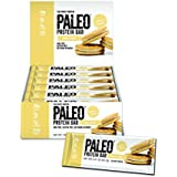 Paleo Protein Bar (Vanilla Cookie) 12 Bars (20g Egg White Protein 7 Net Carbs w/Probiotics)
