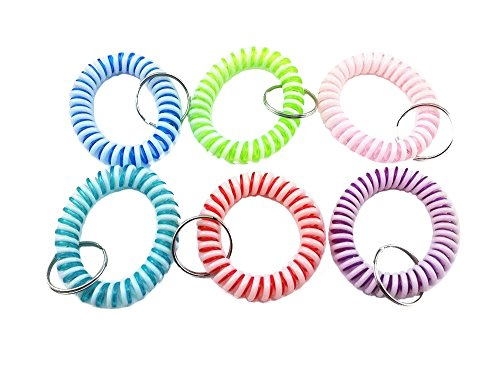 (yueton Colorful Candy Bicolor Flexible Spiral Coil Wristband (Bicolor))