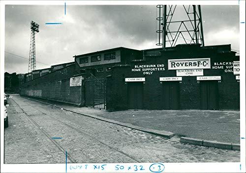 (Vintage photo of Blackburn Rovers Football club.)
