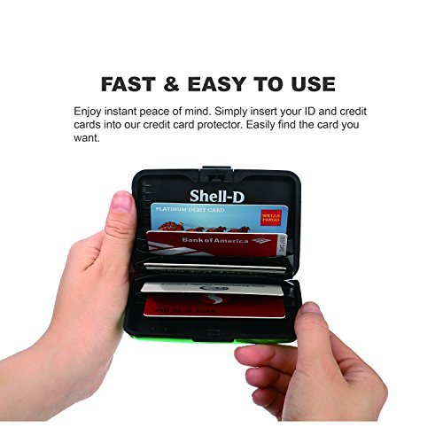 Shell D RFID Blocking Credit Card Protector holds 9 cards
