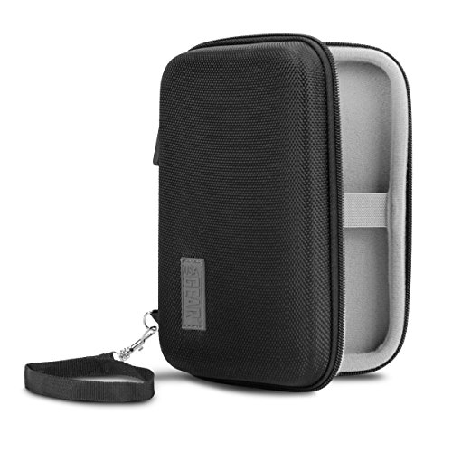 USA Gear Small Electronics Travel Organizer 6.5 Inch with Hard Shell Exterior and Accessory Storage Pocket - Compatible with GPS Garmin, Cables, Chargers, Hard Drives and More Accessories
