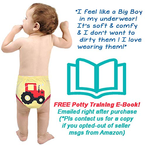 FREE Wet Bag Washable /& Resuable MOM /& BAB Potty Training Underwear//Pants for Toddlers Girls, Small Soft Cotton Comfortable for Your Baby