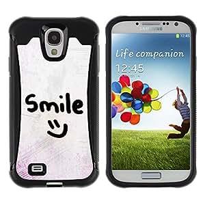 Suave TPU GEL Carcasa Funda Silicona Blando Estuche Caso de protección (para) Samsung Galaxy S4 IV I9500 / CECELL Phone case / / smile motivational smiley emoticon /