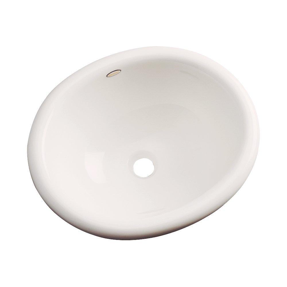 Dekor洗面台66000 Costa CastアクリルセルフRimmingバスルームシンク、ホワイト 66002 1 B01C56UL4G アーモンド アーモンド