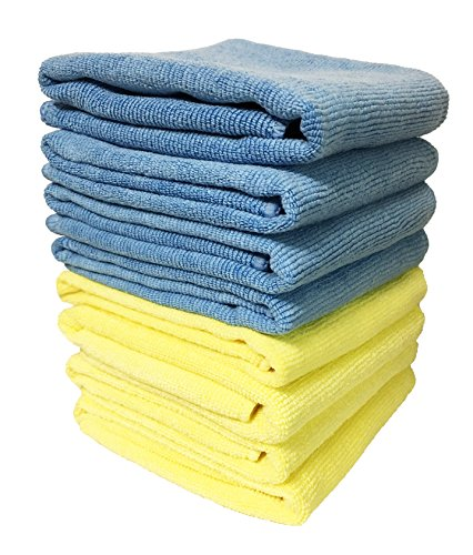 (8-Pack) 300GSM 16″x16″ Aetinstar Microfiber Cloth Towels for Kitchen, Home, Car, Garage, Perfect for Wiping, Dusting, Cleaning, Polishing for Car, Furniture, Windows, Appliances