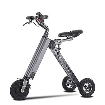 L&U Mini Scooter eléctrico Plegable de 3 Ruedas 36V 250W, Bicicleta eléctrica de Litio eléctrica