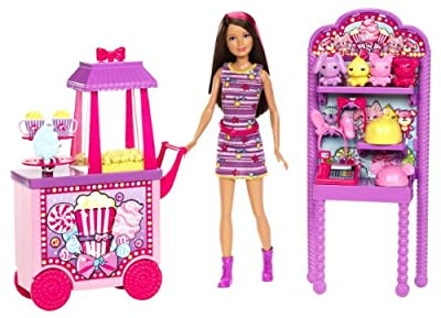 Barbie Sisters Popcorn & Souvenirs Playset from Mattel