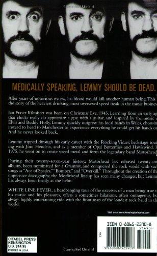 White Line Fever: The Autobiography: Lemmy Kilmister, Janiss