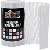 Gorilla Grip Original Drawer and Shelf Liner, Strong Grip, Non Adhesive, Easiest Install, 20 Inch x 10 FT Roll, Durable and Strong Liners, Drawers, Shelves, Cabinets, Storage, Kitchen, Light Gray