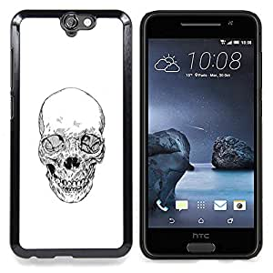 - Skull Death Biker Gang White Pencil - - Snap-On Rugged Hard Cover Case Funny HouseFOR HTC ONE A9