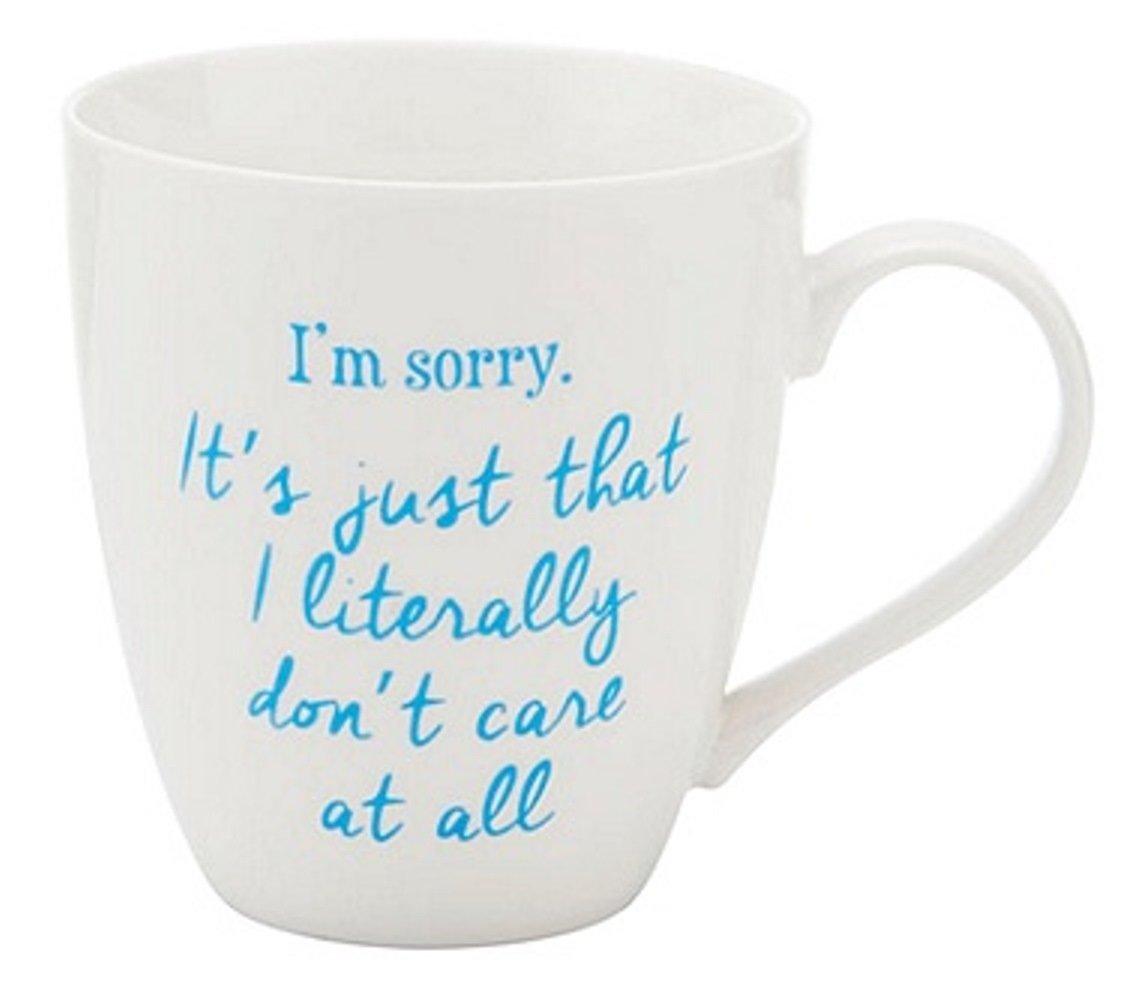 Pfaltzgraff Everyday Im Sorry I Literally Dont Care 18 Oz Novelty Coffee Mug