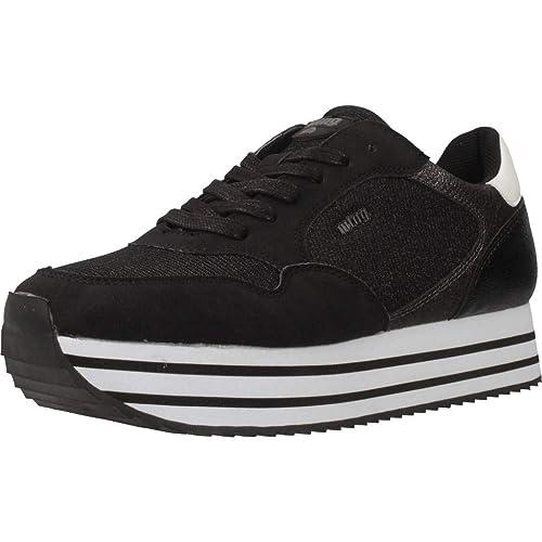 Zapatillas Deportivas Mustang Purpurina - 37, Negro: Amazon.es: Zapatos y complementos