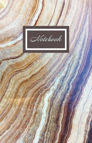Notebook: Mocha Brown Marble Softback Notebook 100 Lined Pages 5.5