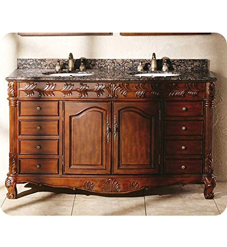 """James Martin Classico 60"""" Double Granite Top Vanity in Cherry from James Martin Furniture"""