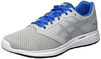 Asics Men's Patriot 10 Road Running Shoes, Grey (Mid Grey/Race Blue),7.5 US,40 1/2 EU
