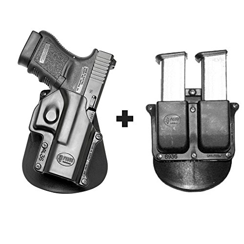 (Fobus GL-36 Paddle Smart Conceal Concealed Carry Holster Glock 36 + 6936 Double Magazine Pouch)
