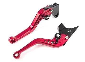 MOTO Frenos y Embrague CNC Corto Palanca Ajustable Aluminio para Sport Bike YAMAHA FZ6 FAZER FZ1