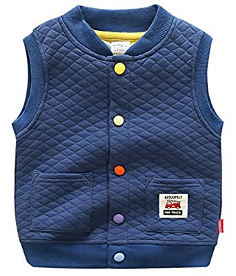 Amazon.com: Katoofely Winter Waistcoat Button Down