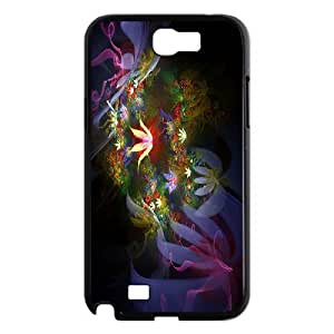 SYYCH Phone case Of Fractal Art Flowers Cover Case For Samsung Galaxy Note 2 N7100