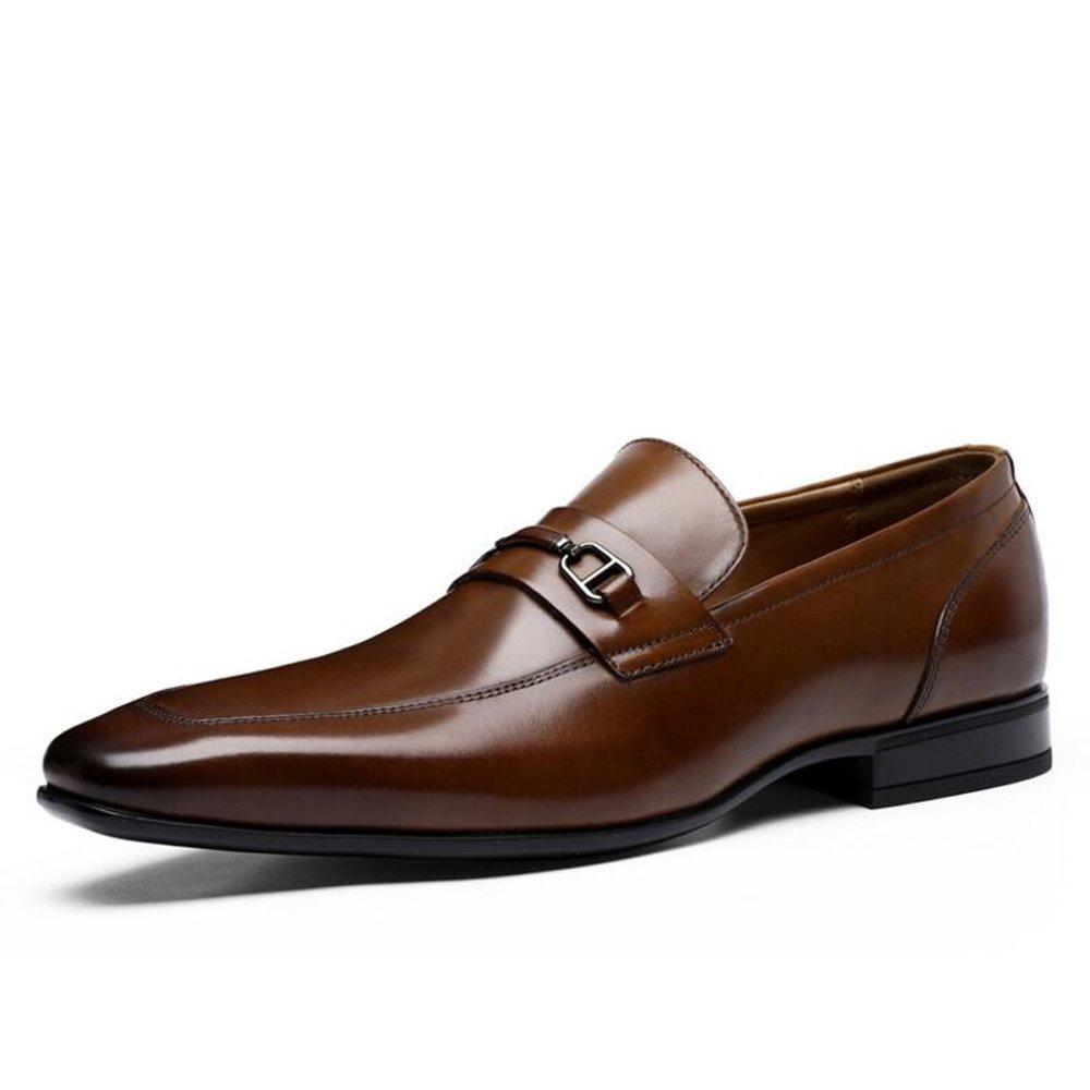 marron GLJJQMY Première Première Première couche de chaussures en cuir pour hommes d'affaires des hommes d'affaires occasionnels en cuir habillent des chaussures simples chaussures habillées 39-44 verges Bottes en cuir pour h 6f3