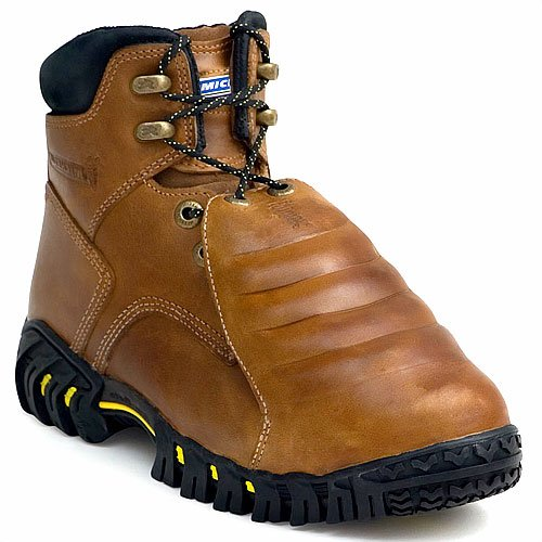 MICHELIN Men's Steel Toe Metatarsal Guard Boots,Brown,10 W (Tire Michelin Man)