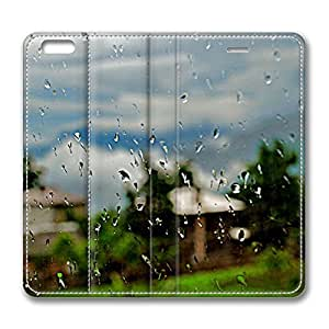 Rainy Day iPhone 6 Plus 5.5inch Leather Case, Personalized Protective Slim Fit Skin Cover For Iphone 6 Plus [Stand Feature] Flip Case Cover for New iPhone 6 Plus wangjiang maoyi