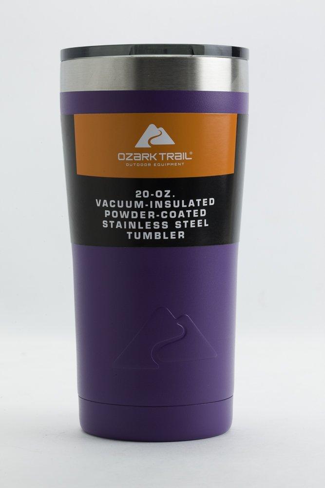 Ozark Trail 20 Ounce Double-Wall, Vacuum-Sealed Tumbler (Purple)