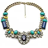 Statement Choker Necklace Collar Chain for Party, Fashion Vintage Style Bib Jewelry, Gifts for Her