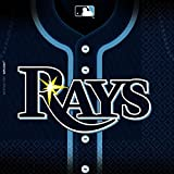 "Sports and Tailgating MLB Party Tampa Bay Rays Luncheon Napkins Tableware, Paper, 6"" x 6"", Pack of 36"