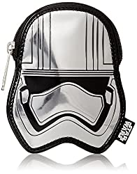 Loungefly Captain Phasma SLV Metallic Embossed Coin Purse, Grey, One Size
