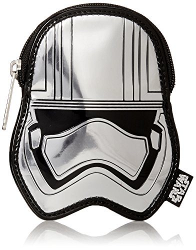 - Loungefly Captain Phasma SLV Metallic Embossed Coin Purse, Grey, One Size