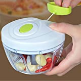 chili chopper - Mangocore Best Quality And Safe Kitchen Spiral Slicer Food Chopper Dicer Meat Fruit Cutter Mixer Salad Crusher For Garlic, Ginger, Chili