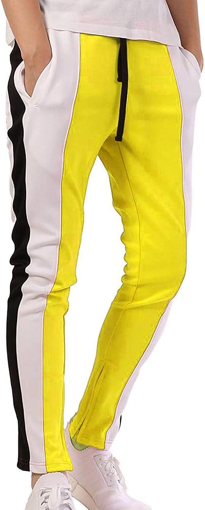 Hombres Deportivos Pantalones Hip Hop Estilo Pants Colorblock ...