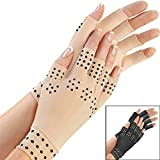 A Pair Arthritis Pressure Healthcare Magnetic Pain Nude Relief Therapy Magnetic Therapy Gloves