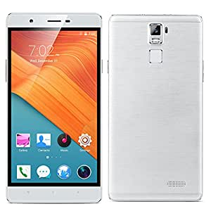 Padcod R8S Unlocked 3G Smartphone,6 inch IPS Screen Android 5.1 Phone,MTK6580 Quad-Core 1.2GHz,512MB RAM+4GB ROM,WIFI Bluetooth,FM Radio,GPS G-Sensor SIM-Free 2G/3G 2400mAh Cellphone (White)