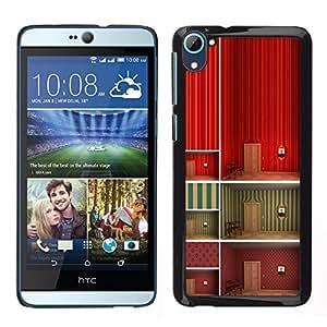 LECELL--Funda protectora / Cubierta / Piel For HTC Desire D826 -- Minimalista Wallpaper profundo Diseño --