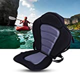 Tbest Deluxe Vinyl Foam Padded Kayak Seat with Back Support and Storage, Waterproof Detachable Canoe Sit On Top Kayaking Seat