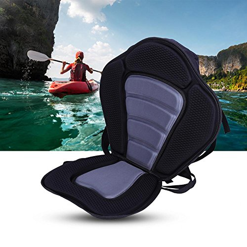 Tbest Deluxe Vinyl Foam Padded Kayak Seat with Back Support and Storage, Waterproof Detachable Canoe Sit On Top Kayaking Seat by T-best