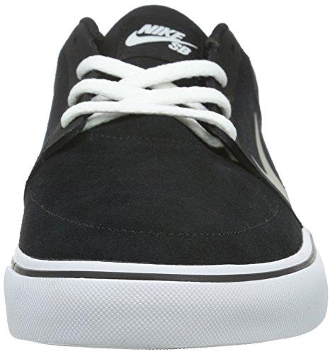 Nike Mens Sb Portmore Scarpa Da Skateboard Alta Alla Caviglia Nero / Mdm Gry / Bianca / Gm Lght Brwn