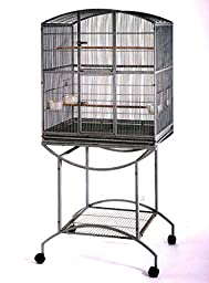 NEW Elegant Double Front Doors 1/2 Inch Bar Spacing Wrought Iron Cage For Small Size Parrot or Bird Black Vein