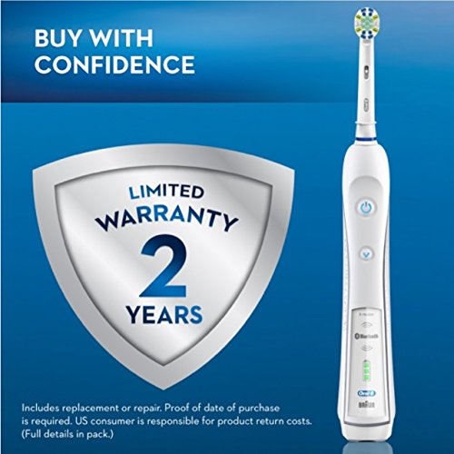 Oral-B Pro 5000 SmartSeries Power Rechargeable Electric Toothbrush with Bluetooth Connectivity Powered by Braun by Oral B (Image #9)